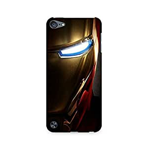 Motivatebox- Iron Man's Helmet Premium Printed Case For Apple iPod Touch 5 -Matte Polycarbonate 3D Hard case Mobile Cell Phone Protective BACK CASE COVER. Hard Shockproof Scratch-