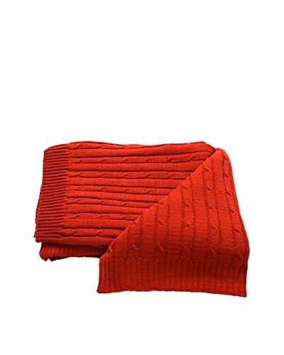 Mili Designs Braided Zig Zag Throw, Burnt Orange