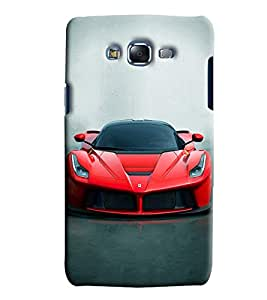 Clarks Ferrari Inspired Hard Plastic Printed Back Cover/Case For Samsung Galaxy J7