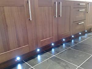 led blue deck lights decking plinth kitchen lighting set amazon