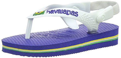 Havaianas Baby Brasil Logo, Infradito Unisex-bambino, Marine Blue, 23 EU (21 BR)