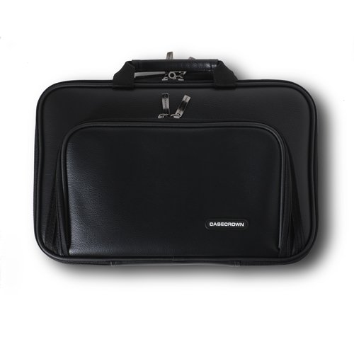 CaseCrown Double Memory Foam Thin Netbook Case With Front Pocket (Black) for ASUS Eee PC 1005HA-PU1X-BK 10.1-Inch Netbook
