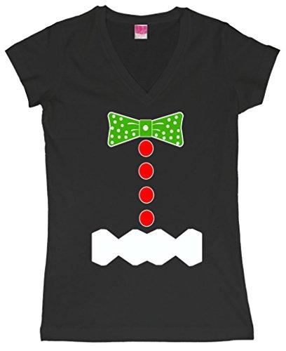 Gingerbread Christmas Costume Juniors V-Neck T-Shirt