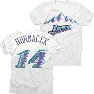 Utah Jazz NBA Jeff Hornacek #14 Mountain Tri-Blend Name & Number T-Shirt 2XL by Majestic Threads