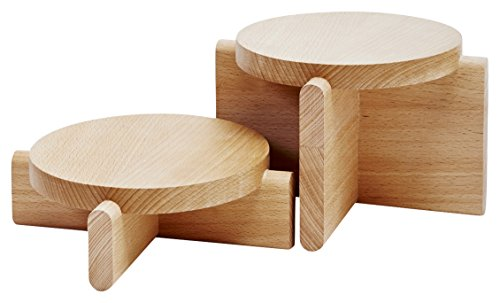 Areaware - Pedestals Set Beech Set of 2