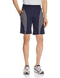 Jockey Men's Cotton Shorts (8901326123331_9411_Medium_Navy and Charcoal Melange)