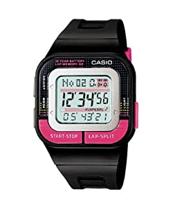 Casio Women's SDB100-1B Black Rubber Quartz Watch with Grey Dial