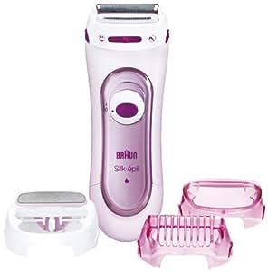 BRAUN Silk-épil LS 5360 Lady Shaver elektrischer Rasierer für Frauen mit 3 Aufsätzen