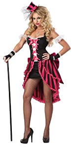 California Costumes Parisian Showgirl Set, Pink/Black, XX-Large