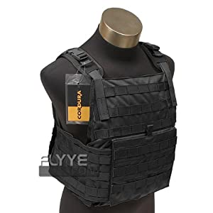 Flyye Tactical Vest Combat PC Plate Carrier MOLLE Style Airsoft Webbing Black from Flyye