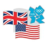 41f1OAzyDcL. SL160  Summer Olympics London 2012 England Olympic Games UK and US Flag Pin