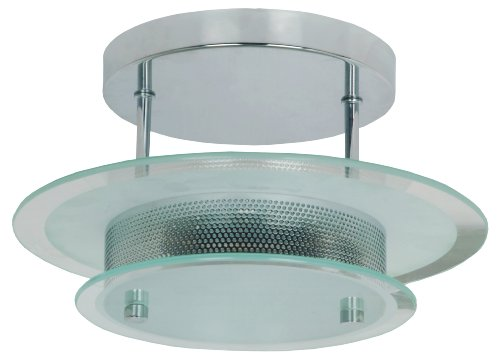 TP24 Bandar Semi Flush Fitting in Glass and Chrome Finish (Medium)