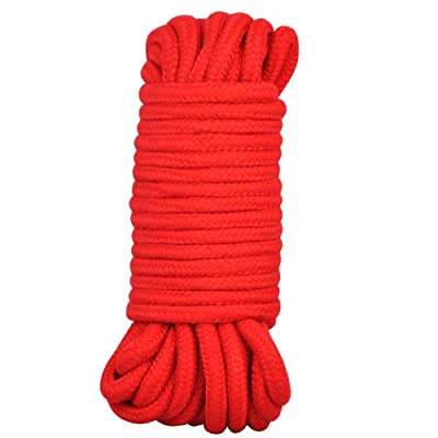 chinkyboo Japanese Silk Bondage Rope 10 Metres 33FT Soft To Touch Bdsm Tie Up Fun - Red