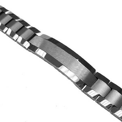 14MM Tungsten Carbide ID Bracelet 8.5 inches