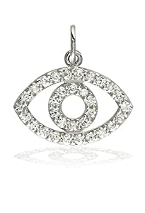 Sziro Sparkles Diamond Evil Eye Charm in 14k White, Yellow, or Pink (Rose) Gold