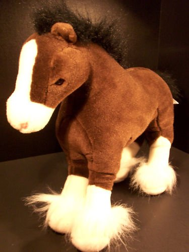 "Retired Gund ""Dale"" Clydesdale Horse 13"" Plush Pony - 1"