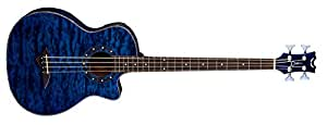 Dean Guitars Exotica Quilt Ash A/E Bass TBL 4-Strings Acoustic-Electric Bass Guitar with Aphex