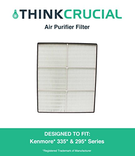1 HEPA Kenmore Air Purifier Filter, Fits Kenmore models 83200, 83202 (Progressive 335), 83230, 83354, 83355 & 295 Series, Compare to Part # 83375 & 83376, Designed & Engineered by Crucial Air