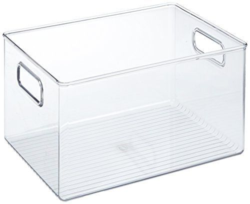 InterDesign Linus Fridge n Pantry Binz - Contenitore da frigo, trasparente