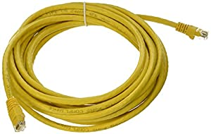 Monoprice 20-Feet 24AWG Cat6 550MHz UTP Ethernet Bare Copper Network Cable, Yellow (105016)