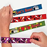 Pack of 4 - Ten Pin Bowling Slap Bracelets - Great Boys Girls Loot Bag Fillers Accessories
