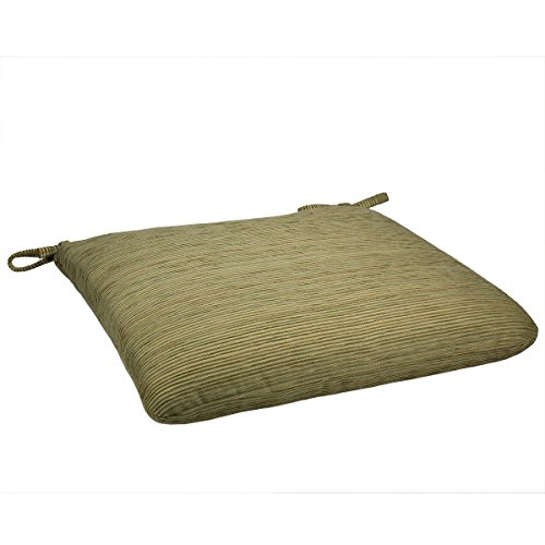 20W x 19Dx 2.5H Sunbrella Indoor/Outdoor Knife Edge style seat pad cushion in Chenilella Citron by Comfort Classics Inc. Made