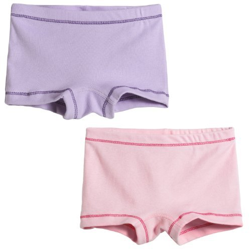 Little Girls' 2-Pack Boyshorts Bike and Dance Shorts, Ballerina, 4 Size: 4 Color: Ballerina, Model: UGBS-BAG-BAL-4, Newborn & Baby Supply