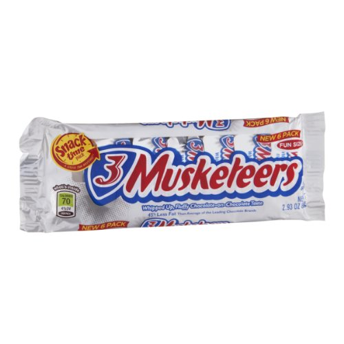 3 Musketeers Fun Size Chocolate - 6 PK