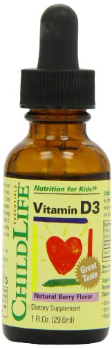 Child Life Essentials Vitamin D3 Natural Berry Flavor, Natural Berry Flavor 1 Oz