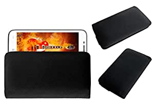 Acm Rich Leather Soft Case For Celkon Ar-50 Mobile Handpouch Cover Carry Black