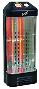 Comfort Zone Fan-Forced Quartz Heater CZQTV8BK
