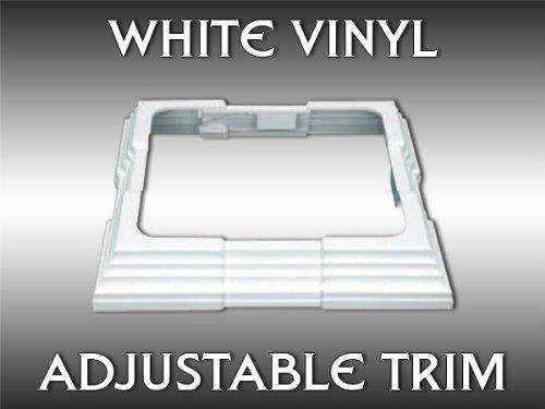 "White Adjustable (4""-6.5"") Vinyl 4-pc ""Porch Post"" Trim Ring"