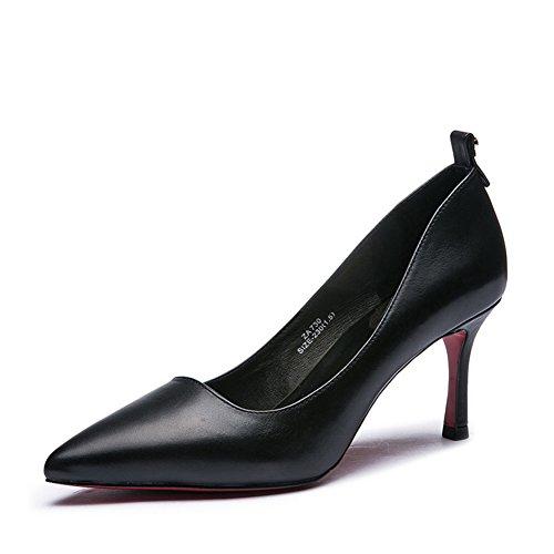 Lady autunno moda fiocco metallico leggero scarpe/In pelle tacco a spillo scarpe-A Lunghezza piede=22.8CM(9Inch)