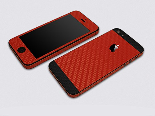 Kapa Full Body Dual Tone Carbon Fiber Vinyl Skin Sticker Cover For Apple IPhone 5S