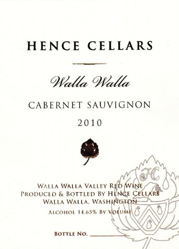 2010 Hence Cellars Cabernet Sauvignon 750 Ml