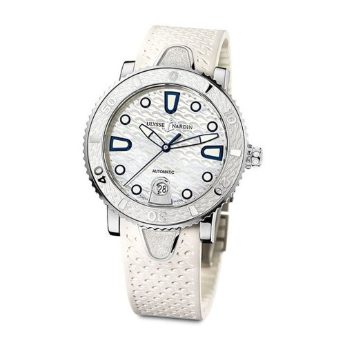 Ulysse Nardin Women's 8103-101-3/00 Marine Lady Divers White Watch