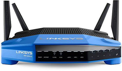 Linksys WRT AC1900 Dual-Band+ Wi-Fi Wireless Router with Gigabit & USB 3.0 Ports and eSATA, Smart Wi-Fi Enabled to Control Your Network from Anywhere (WRT1900AC)