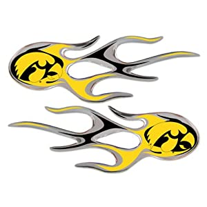 Buy Iowa Hawkeyes Micro Flames Auto Decal 2 Pack for Car Truck Motorcycle Bike Mailbox Locker Sticker College Licensed Team... by NCAA