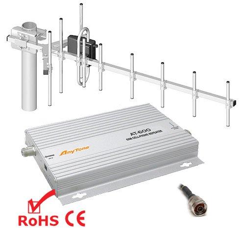 AnyTone AT-600 GSM Repeater Verstärker Booster D2 Vodafone + YAGI Antenne