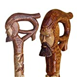 Carved Walking Stick - Nobleman