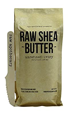Raw Apothecary 1lb (16oz) Unrefined Raw IVORY Shea Butter - For Skin and Hair Use
