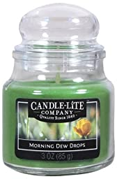 Candle lite 3827385 3 oz Morning Dew Drops Jar Candle , Pack of 12