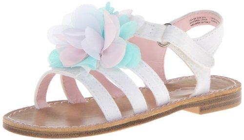 Toddler Girl White Sandals front-1053549