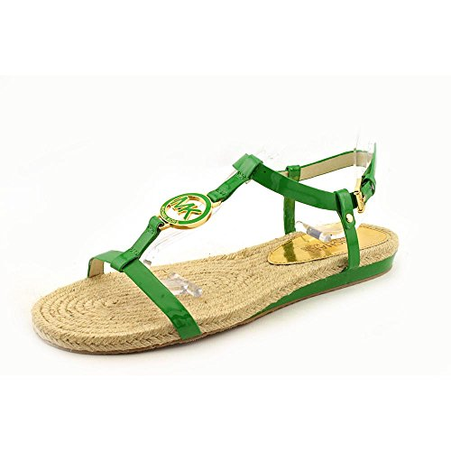 Michael Kors Hope Sandal Womens Size 9.5 Green Open Toe Slingback Sandals Shoes