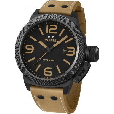 Imagen de TW Cantina Acero Automático PVD Negro Dial Reloj Hombre - TWA202