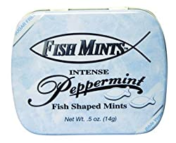 Fish Mint Pocket Tin - Sugar Free - Peppermint - 6 Tins