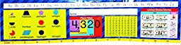 Teaching Tree Educational Reference Desk Plates (Blue with Shapes)
