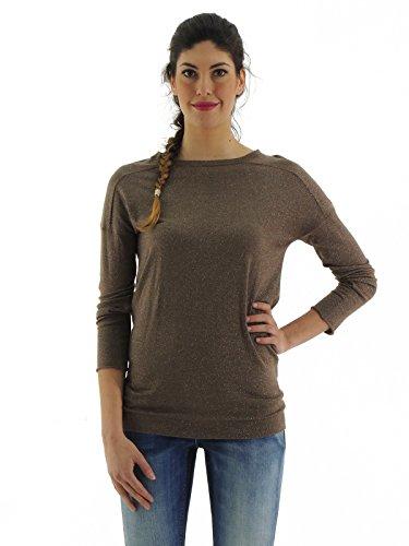 Brunello Cucinelli maglia donna maglione lana girocollo M41802920 (XL, MARRONE)