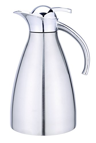 COOX 2.0L Deluxe Stainless Steel Thermal Carafe Pitcher - Unbreakable Double Wall Vacuum Insulated Jug for Coffee or Hot & Cold Drinks (Vacuum Insulated Thermal Carafe compare prices)
