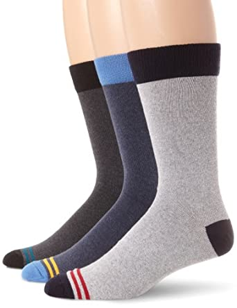 PACT Men's Recycled Crew Sock, Multi Colored, One Size